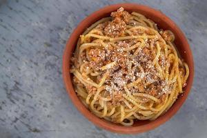 Salted pasta dish photo