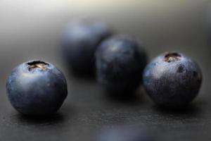 Four single blueberries