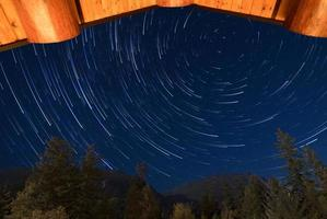 Time lapse of star trails