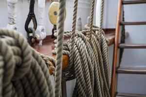 Close up of sailing rope