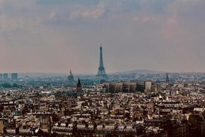 City skyline of Paris, France photo