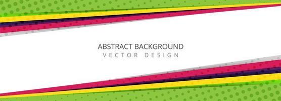 Banner de capas de semitono en ángulo abstracto colorido