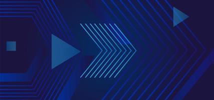 diseño de arte de línea de flecha azul moderno abstracto vector