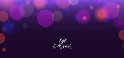 Night light purple bokeh design vector