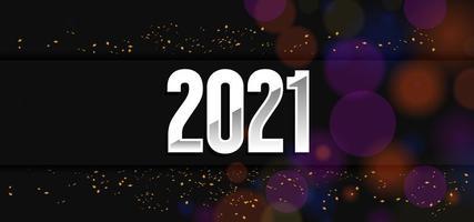 design noir 2021 avec paillettes et effet de lumière