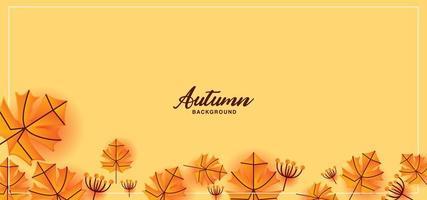 Autumn leaf border and frame vector