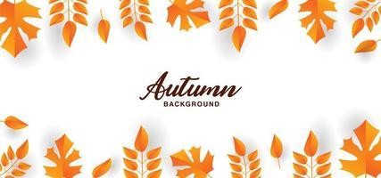 minimalistisch ontwerp oranje herfstblad grenst aan wit