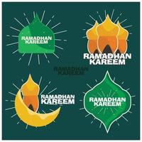 adesivos de ramadan kareem para mídias sociais vetor