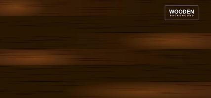 Dark wooden horizontal plank texture vector