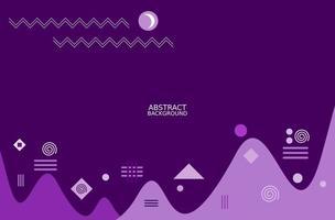 Purple abstract geometric design