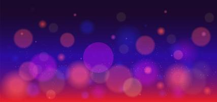 Purple and red bokeh light design vector
