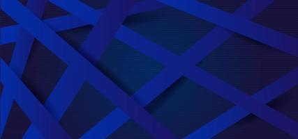 Paper style crisscrossed blue lines vector