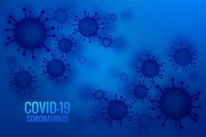 diseño de brote pandémico de coronavirus azul