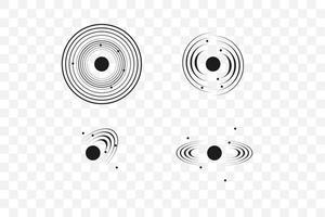conjunto de señal de onda sonar vector