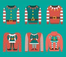 conjunto de suéter de navidad