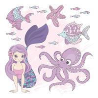 Mermaid Princess Summer Set