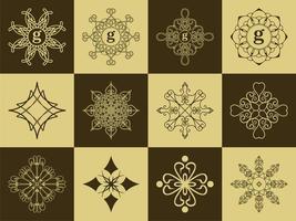 elegante conjunto emblema clásico