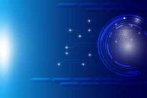 fundo azul de alta tecnologia vetor