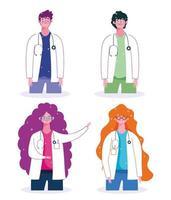 ensemble de médecin masculin et féminin