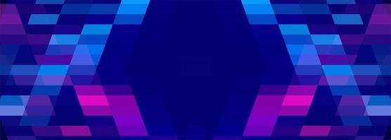 Blue and pink geometric banner vector