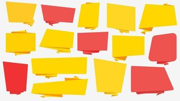 Yellow and red web banners of different shapes