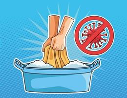 Washing clothes prevention  vector