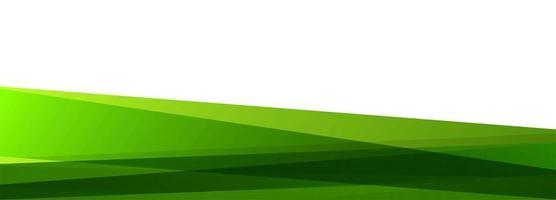 Modern green overlapping banner background vector