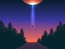 abducción extraterrestre arte vectorial vector