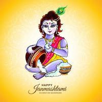 feliz saludo del festival krishna janmashtami