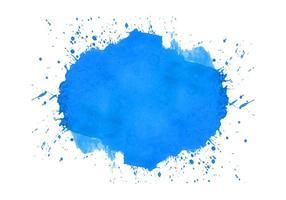 acuarela abstracta azul splash vector