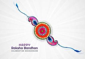 gelukkig raksha bandhan decoratief polsbandje kaartontwerp vector