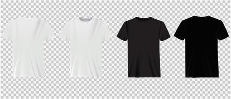White and black t-shirts on transparency vector