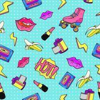 90s pop style seamless pattern vector