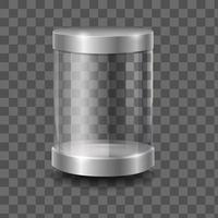 Empty round 3d glass vector