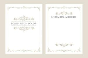Vintage blank invitation greeting cards with place for text