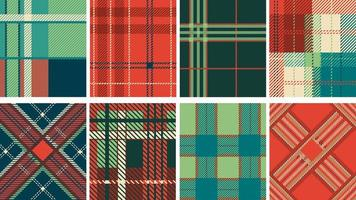 Lumberjack or tartan fabric seamless pattern vector