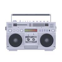 Retro boombox cassette player vector