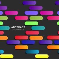 Colorful geometric capsule design on black vector