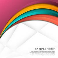 Colorful vibrant overlapping curved layers on white vector