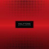 Black halftone circle on red metallic texture vector