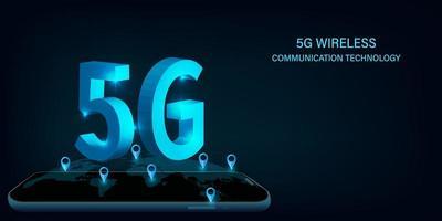 5G network wireless communication technology design vector