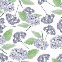 Watercolor purple hydrangea flower pattern