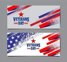 grunge estilo veterano día bandera usa bandera conjunto