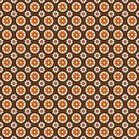 Mod style circular floral pattern
