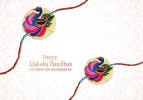 Elegant Raksha Bandhan Indian festival card  vector