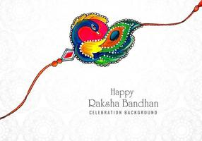 Decorated rakhi for Indian festival vector