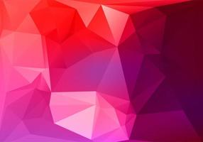 Abstract pink red low poly triangle shapes background vector