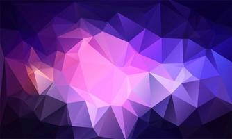Abstract colorful low poly triangle shapes vector