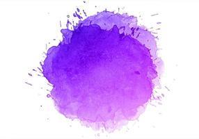 Abstract colorful purple blue watercolor splash vector