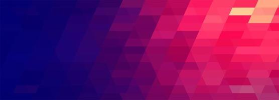 Abstract colorful geometric banner  vector